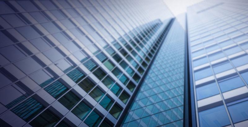 Hochhäuser im Bankenviertel als Illustration für die Verarbeitung von Eingangsrechnungen
