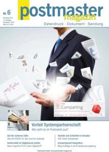 Titelseite der Ausgabe 6/18 vom Postmaster Magazin